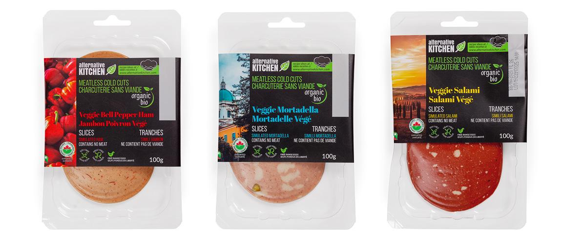 Our organic veggie alternative cold cuts